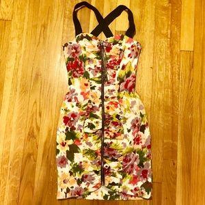 🌟Weekend Sale River Island Floral  Zip Up Dress